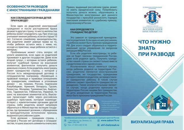 Челябинские юристы выпустили буклет про разводы